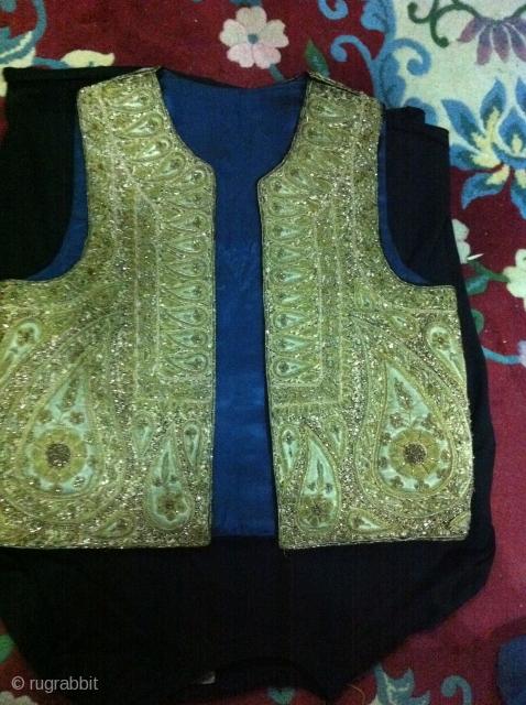 very fine ottoman embroidery vest