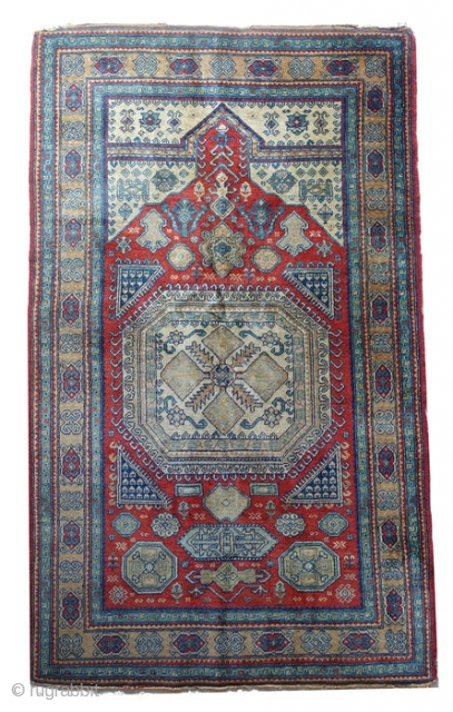 Authentic Caucasian Kazakh rug circa 1960 from Azerbaijan c. 167 x 98 cm