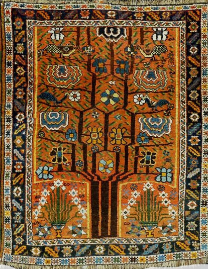 Early 1900s Neyriz rug (Afshar tribes) 157x129cm 