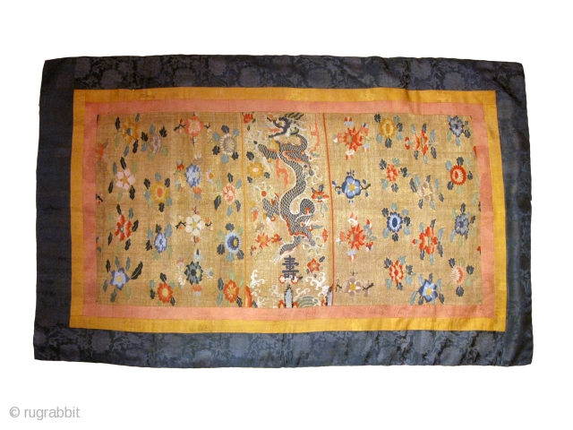 Antique Chinese Early Qing Dynasty Kesi Canopy