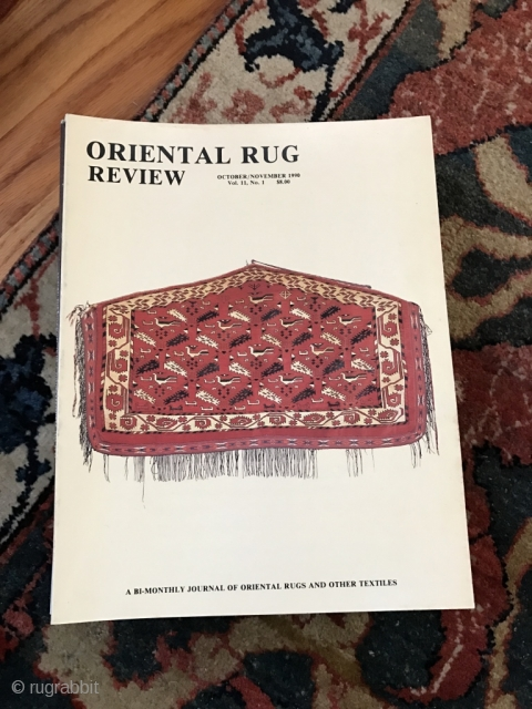 Oriental Rug Review 17 issues : Vol 8 #'s 1-5; Vol 9 #'s 1-6; Vol 10 #'s 1-3, 5, 6 and Vol 11 #1