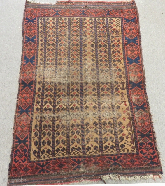 Antique Baluch Carpet Size 127x90cm