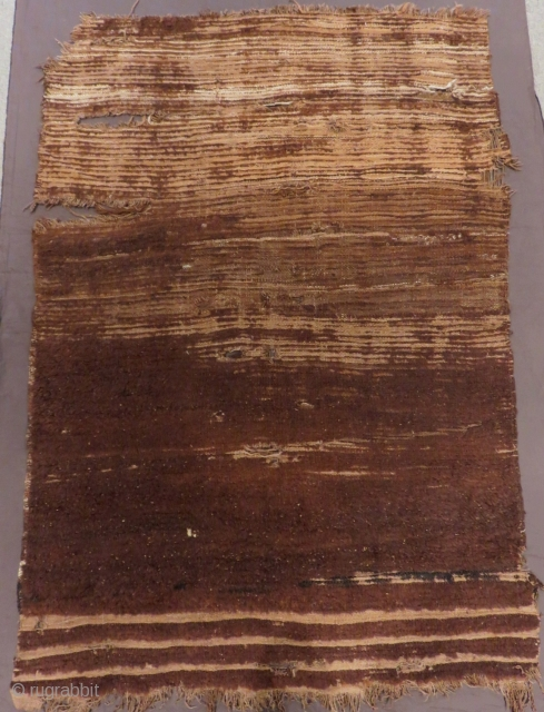 Early 19th Century Central Anatolian Karapınar Natural Colour Tulu Size.140x97cm