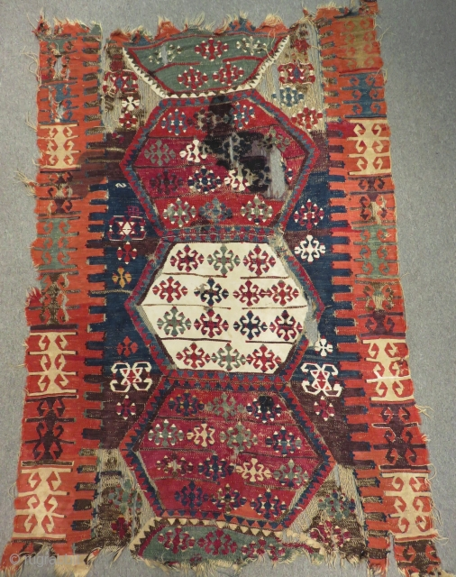 Early 19th Century East Anatolian Malatya Kilim Size.160x110 Cm