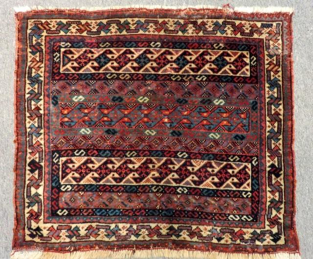 Antique Qashqai Bagface Size.61x53Cm
