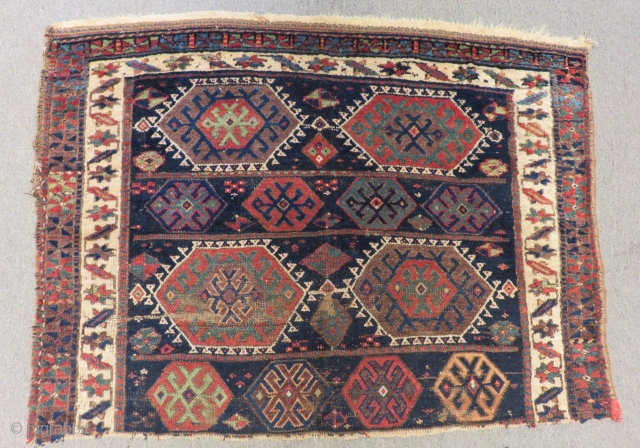 Antique Persian Kürdish Caf fragment Carpet.Size.140x100cm