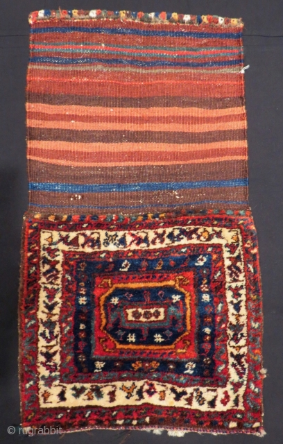 Antique Persian Kurdish Saddlebag Size.46x40 Cm
