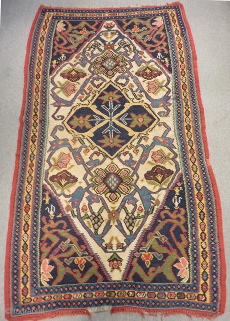 Antique Persian Bidjar Kilim Circa 1890 Size.230x138 Cm