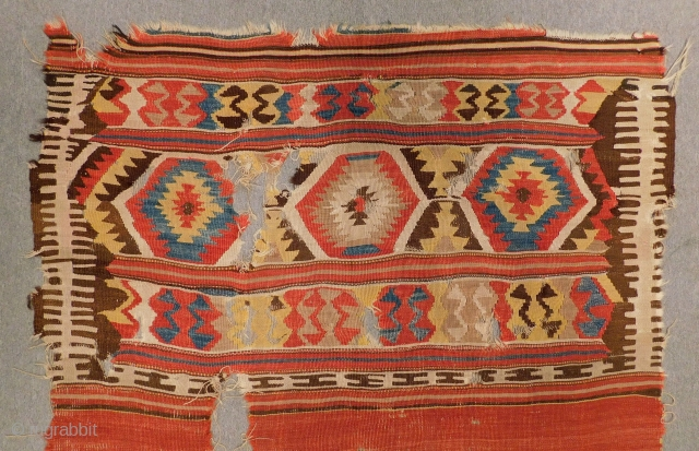 Early 19th Century West Anatolian  Kilim Size.270x140 Cm
