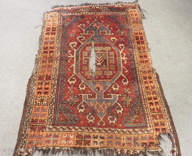 Antique Central Anatolian Konya Yatak Carpet Size.165x120cm