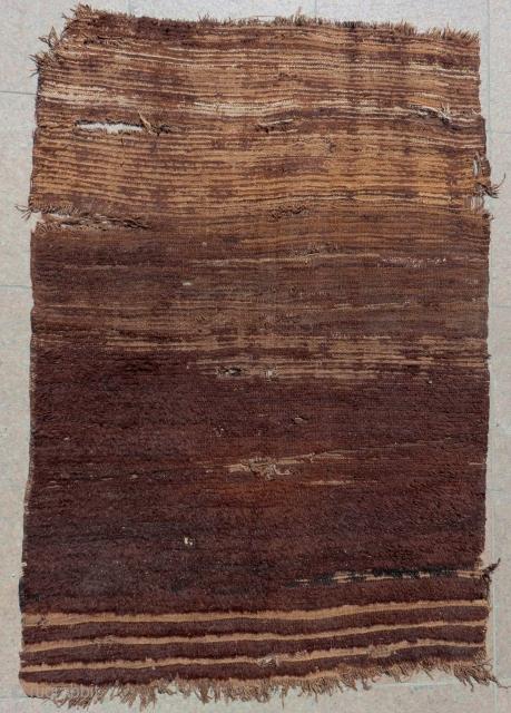 Early 19th Century Central Anatolian Karapınar Natural Colour Tulu Size.140x97 Cm