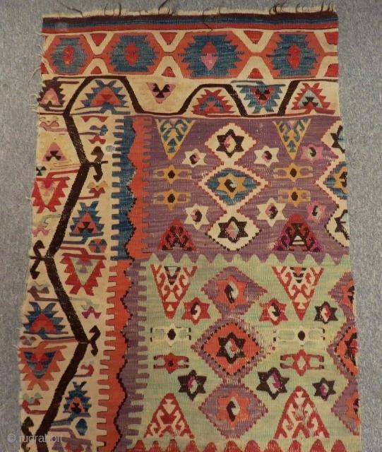 Early 19th C East Anatolian Sivas Kilim  Size.380x85 Cm
