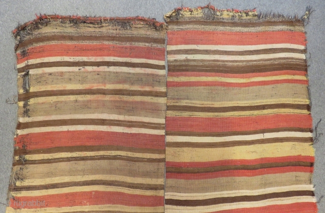 Early 19th C South Anatolian Striped Kilim All Colours Natural Size.305x185 Cm