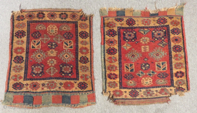 Antique Persian Kürdish Bagface Size.50x50cm 50x50cm