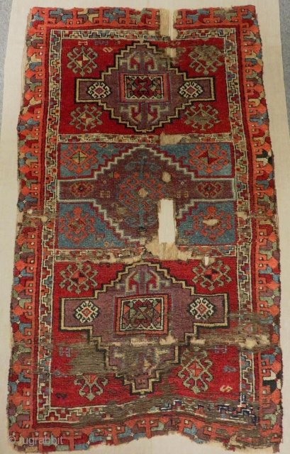 Second 18th C East Anatolian Sivas Rug Size.173x103 Cm