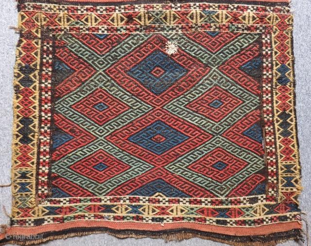 Antique Persian Cecim Bagface Size.75x60cm