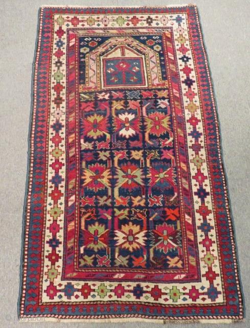 Antique Caucasian Karabagh Prayer Rug Size.150x85 Cm
