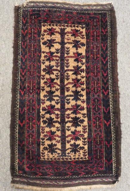 Antique Small Baluch Carpet Size.73x45cm
