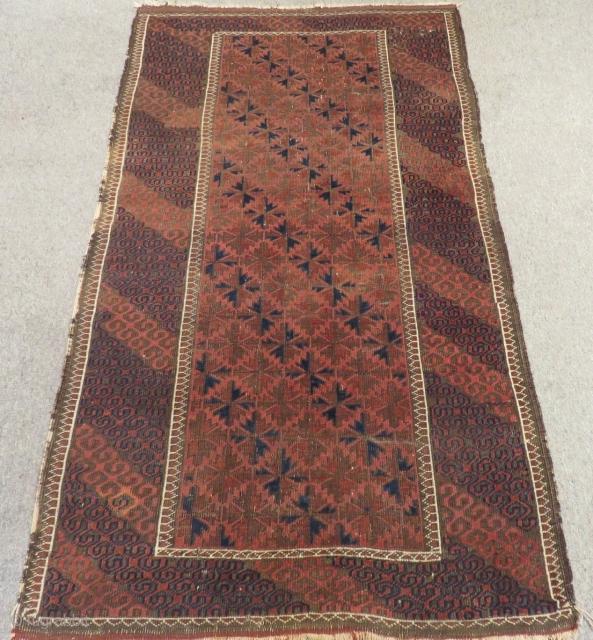 Antique Baluch Carpet Size.178x102cm
