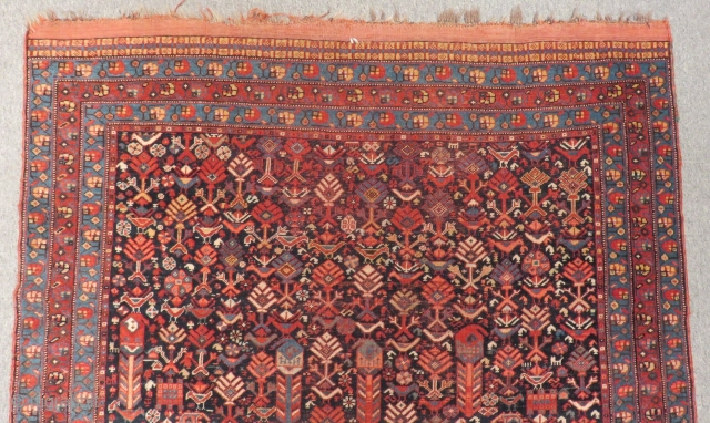 Antique Qashqaii Carpet Size.183x134cm