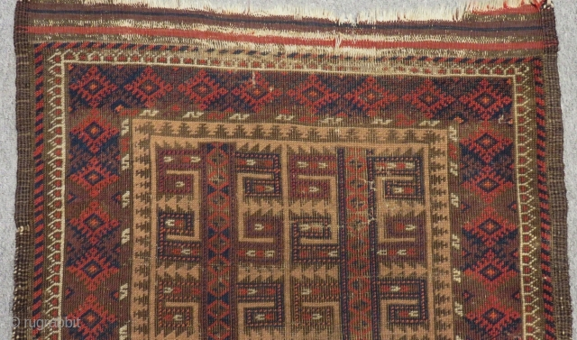 Antique Baluch Rug Size.105x75 Cm