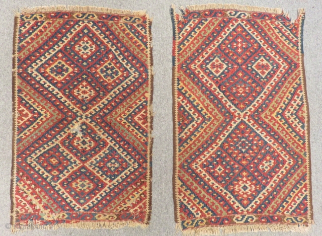 Antique East Anatolian Erzurum Kilim Yastık two Pieces Size.97x61-93x61cm