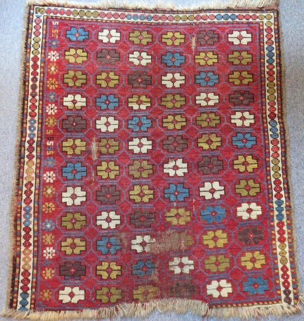 Antique Caucasian Karabagh Rug Size.116x105 Cm