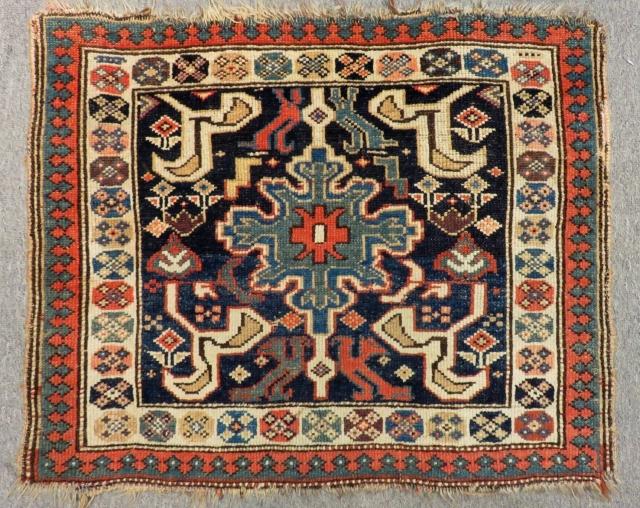 Antique Persian Veramin Bag face Size.70x57 Cm