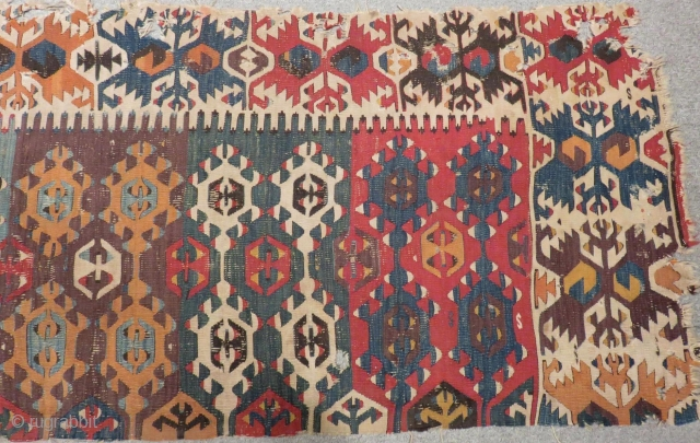 Early 19th Century Anatolian Kilim one part Size.270x86cm