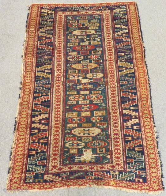 Second 19th Century Caucasian Shirvan Kuba Rug Size.143x90 Cm