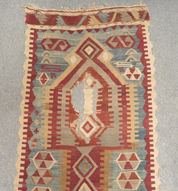 Central Anatolian Konya Obruk Kilim Size.420x95cm