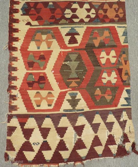 Mid 19th Century Anatolian Kilim One part Size.325x70cm