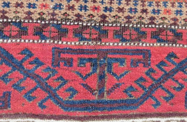 Antique Baluch Rug Size.140x82cm