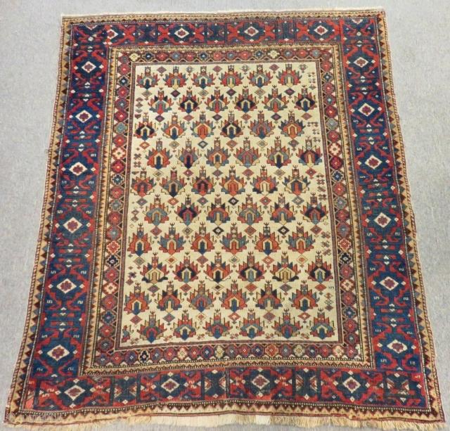 19th Century Caucasian Shirvan Kuba Rug Size.133x113 Cm