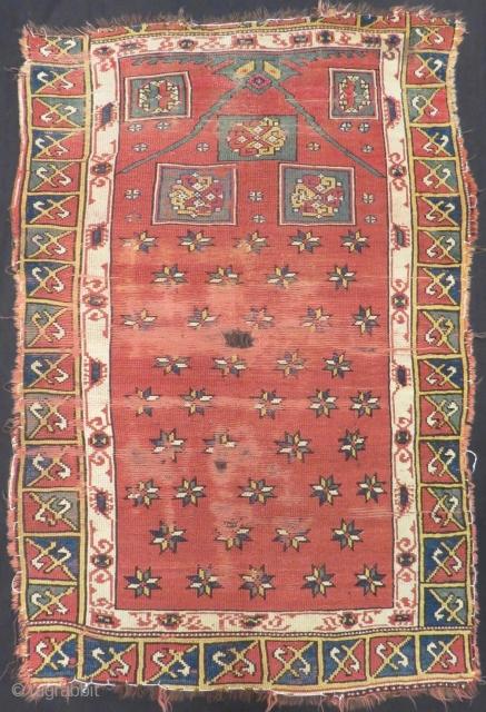 18th Century Manastır Prayer Rug Size.155x102cm