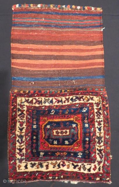 Antique Persian Kurdish Saddlebag Size.46x40 Cm