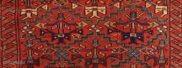 Antique Nort West Persian Fragment Rug Size.116x65cm
