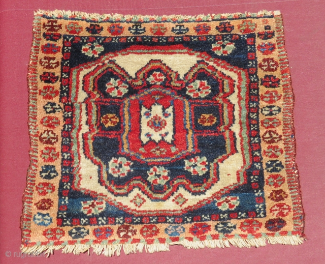 Antique Shahsaven Bagface All Colours Natural Size.45x38 Cm