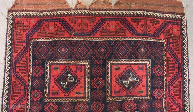 Antique Baluch Rug All Colours Natural Size.225x120 Cm