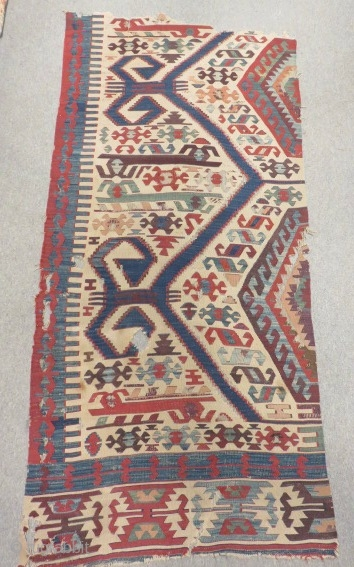 West Anatolian Aydın Kilim Part of one Size.210x102cm