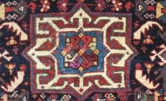 Very Good Badiri Khamseh Some places have silk bagface Size.73x56cm