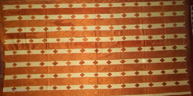 Striped phulkari from punjab,india. very rare design