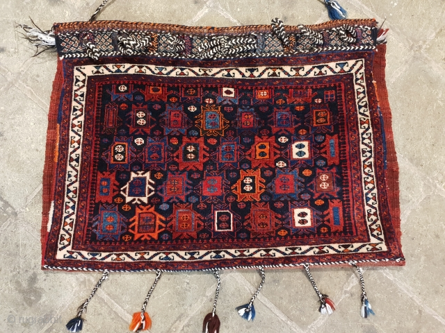 Pair afshar khorjin with splendid pattern ,sharp colors , excellent condition,  
