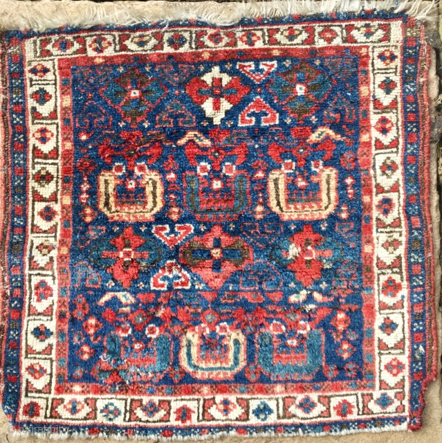 NWPersian Kurdish Bagface 55*52cm Circa 1880