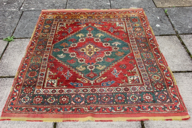 Ref 1458 Antique Dazkiri from Menderes Valley.  First half 19th century. In very good condition with minimal restoration.  5'6 x 4'5 - 168 x 135