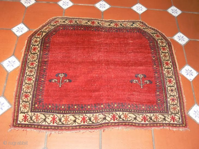 Ref 1436 Afshar Horse cover. 2'11 x 3'7 - 89 x 108.  Late nineteenth century. Natural colours without restoration.