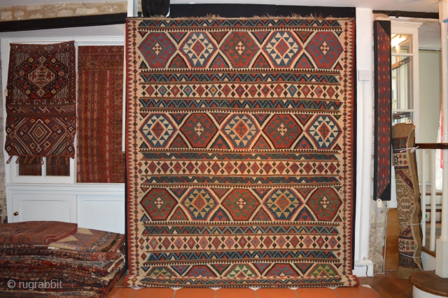Ref 1430C Shirvan Kelim circa 1880. 9'8 x 6'1 - 294 x 182