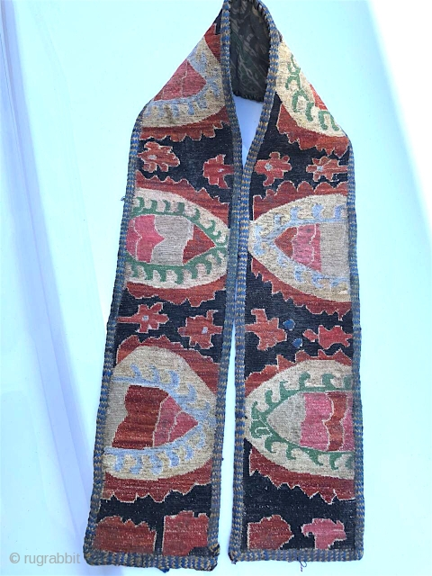1628 Uzbek embroidered belt. Nineteenth century