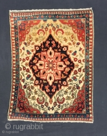 1623 Antique Kashan rug maybe Mohtashem.  Soft Kurk wool and purple silk overcasting. size: 90 x 44 - 30 x 16.  Natural dyes and no restoration. Please check my otherpostings and  ...