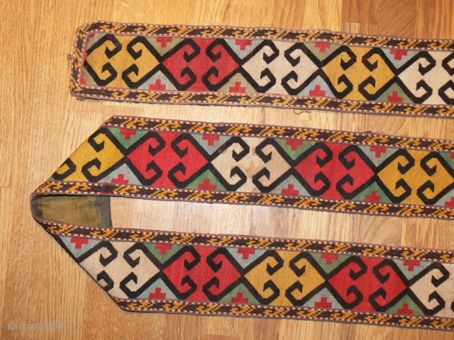1362 Lakai needlework collar, complete.  Finely worked and in excellent condition.